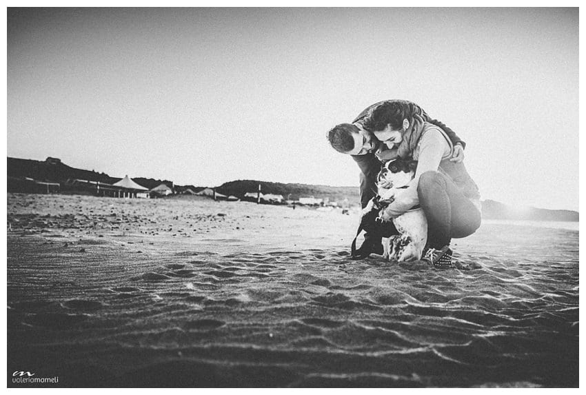 Foto di coppia con cane