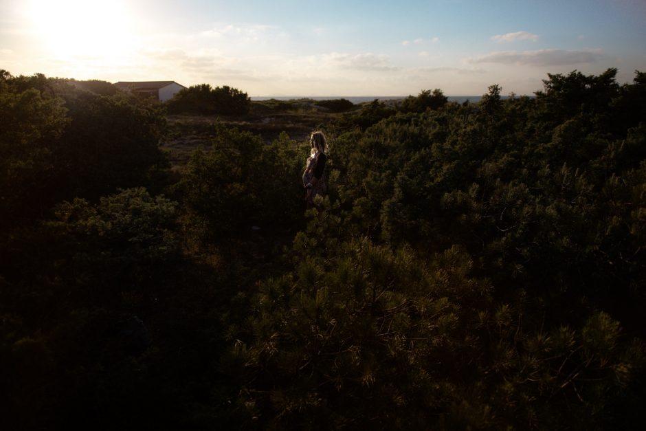 Servizio fotografico con pancione. Sardegna