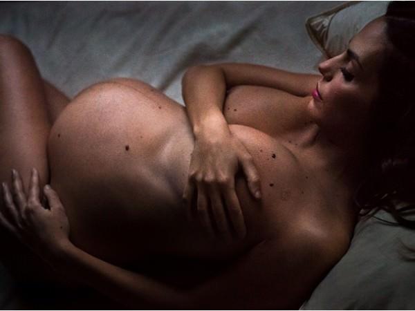 foto donna con pancione