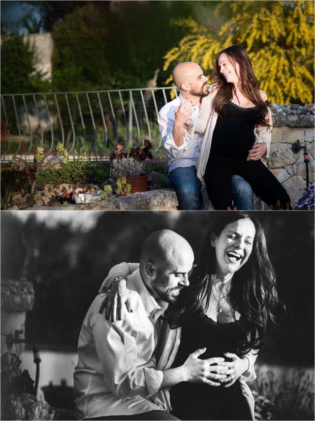 Fotografia di gravidanza in coppia