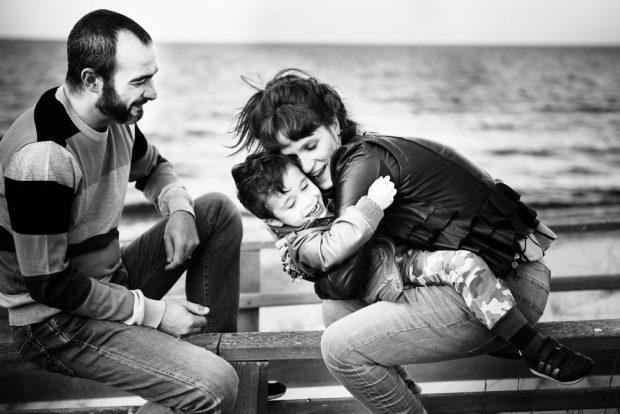 fotografo famiglia al mare