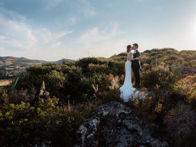 Matrimonio a Castelsardo, vicino al mare