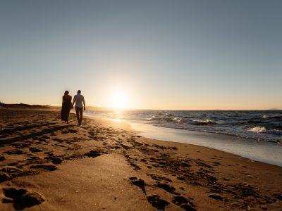 Foto di coppia in spiaggia. Sassari Sardegna
