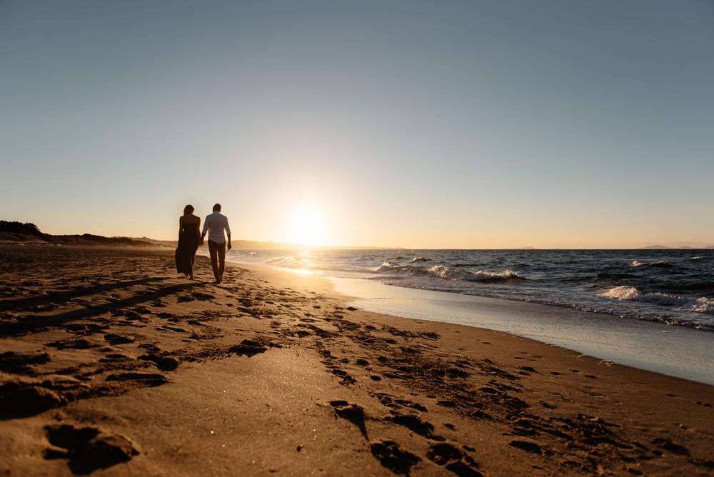 engagement sulla spiaggia