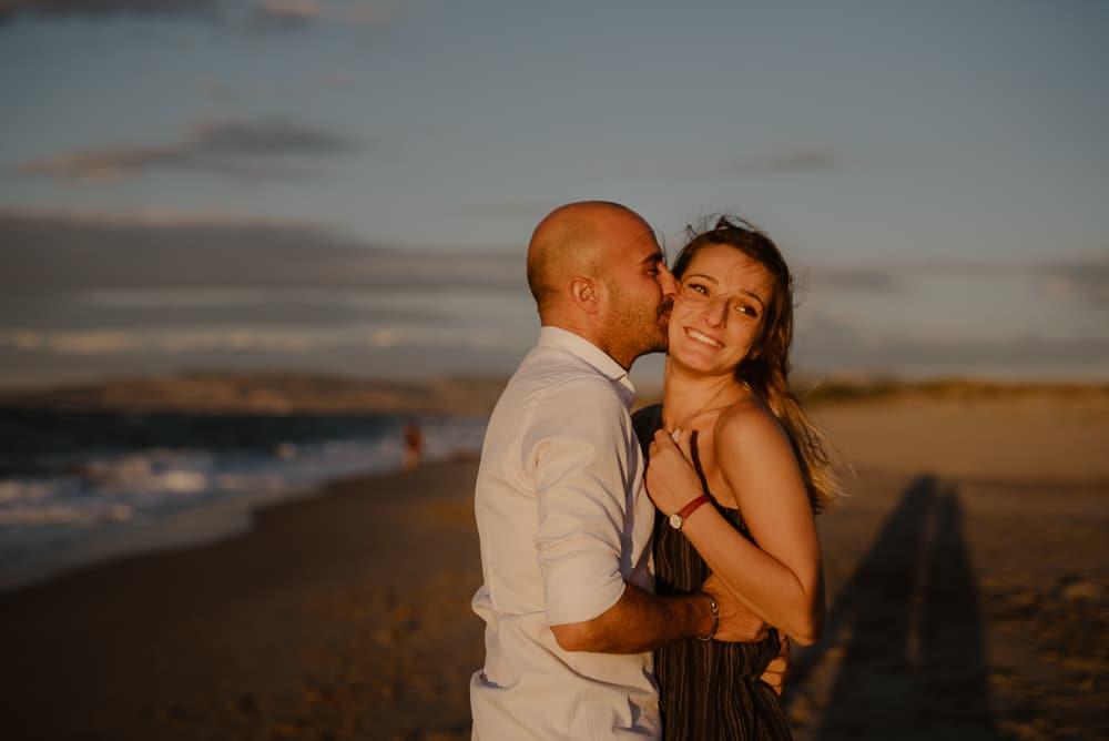 Foto coppia spiaggia. Sassari
