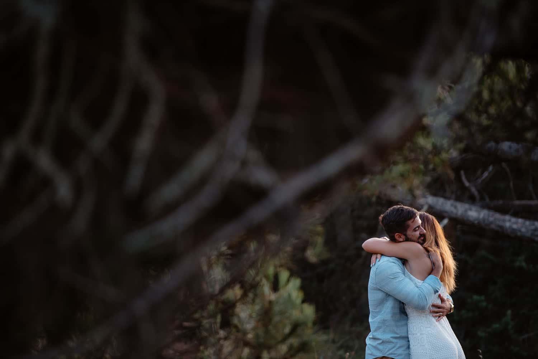 Fotografia di coppia sul mare. Sassari