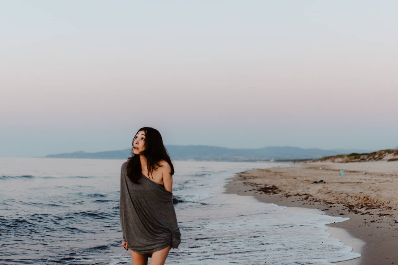 ritratto in spiaggia sardegna