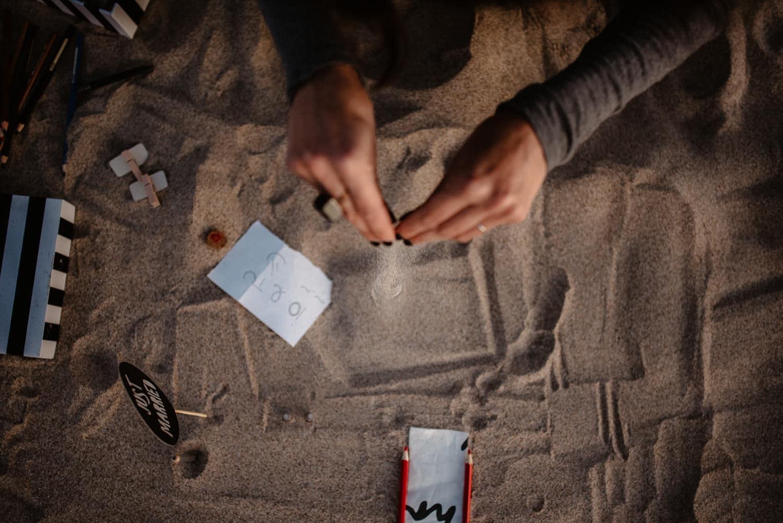 ritratto in spiaggia sassari