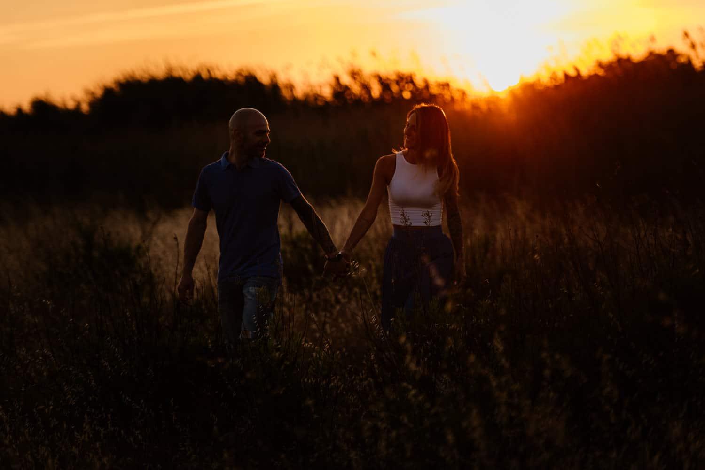 fotografia di coppia tramonto sassari