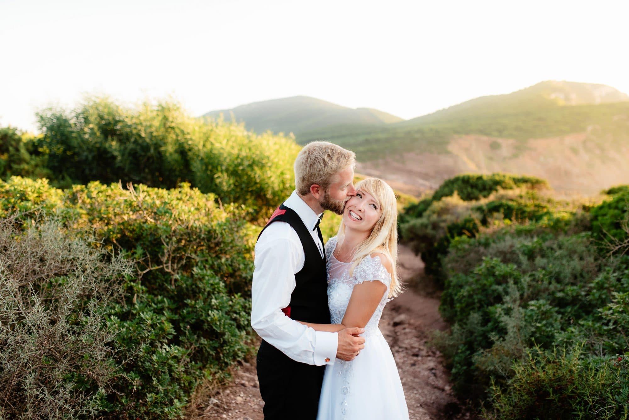 Honeymoon in Alghero, Sardinia.