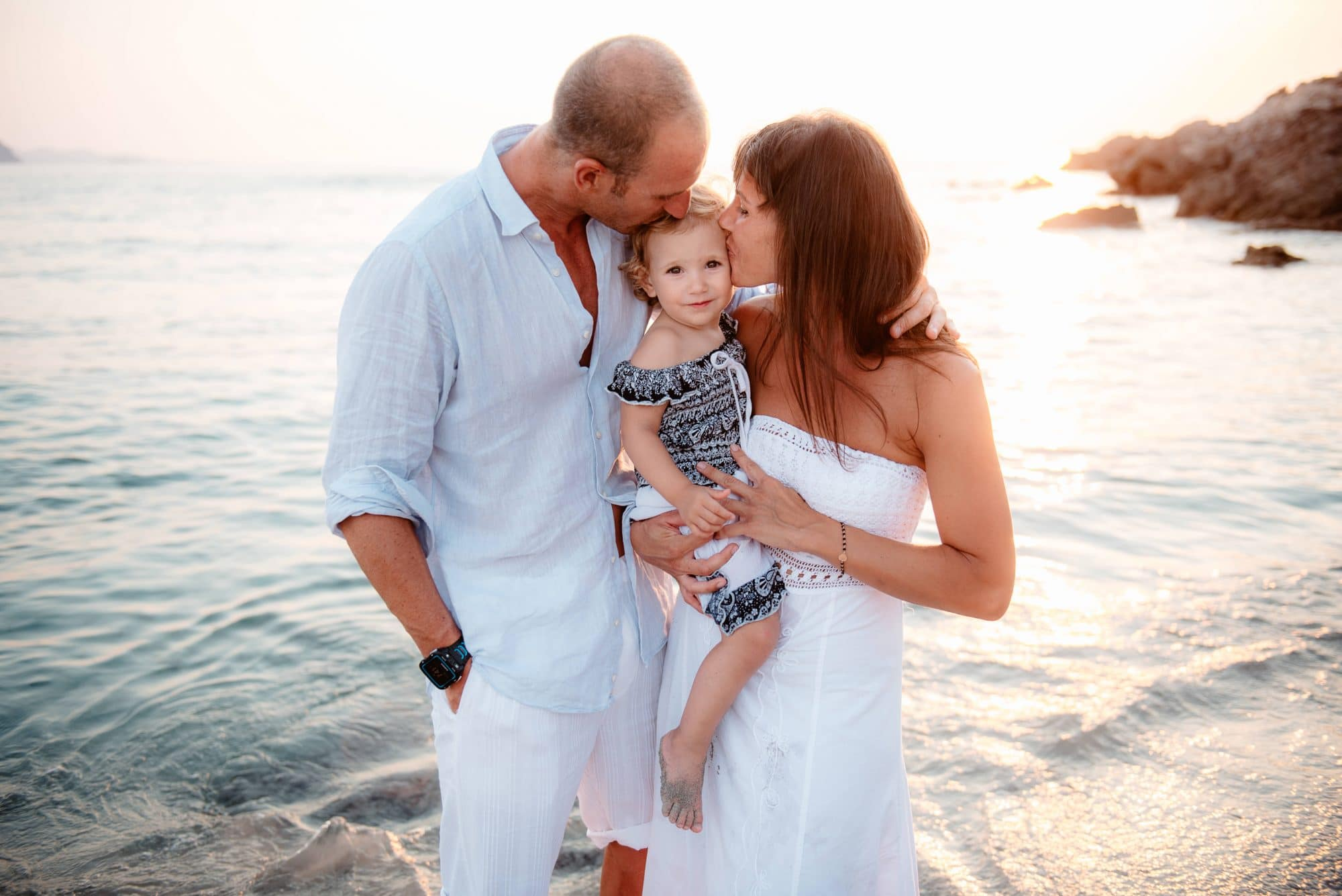 Fotografia di famiglia costa smeralda