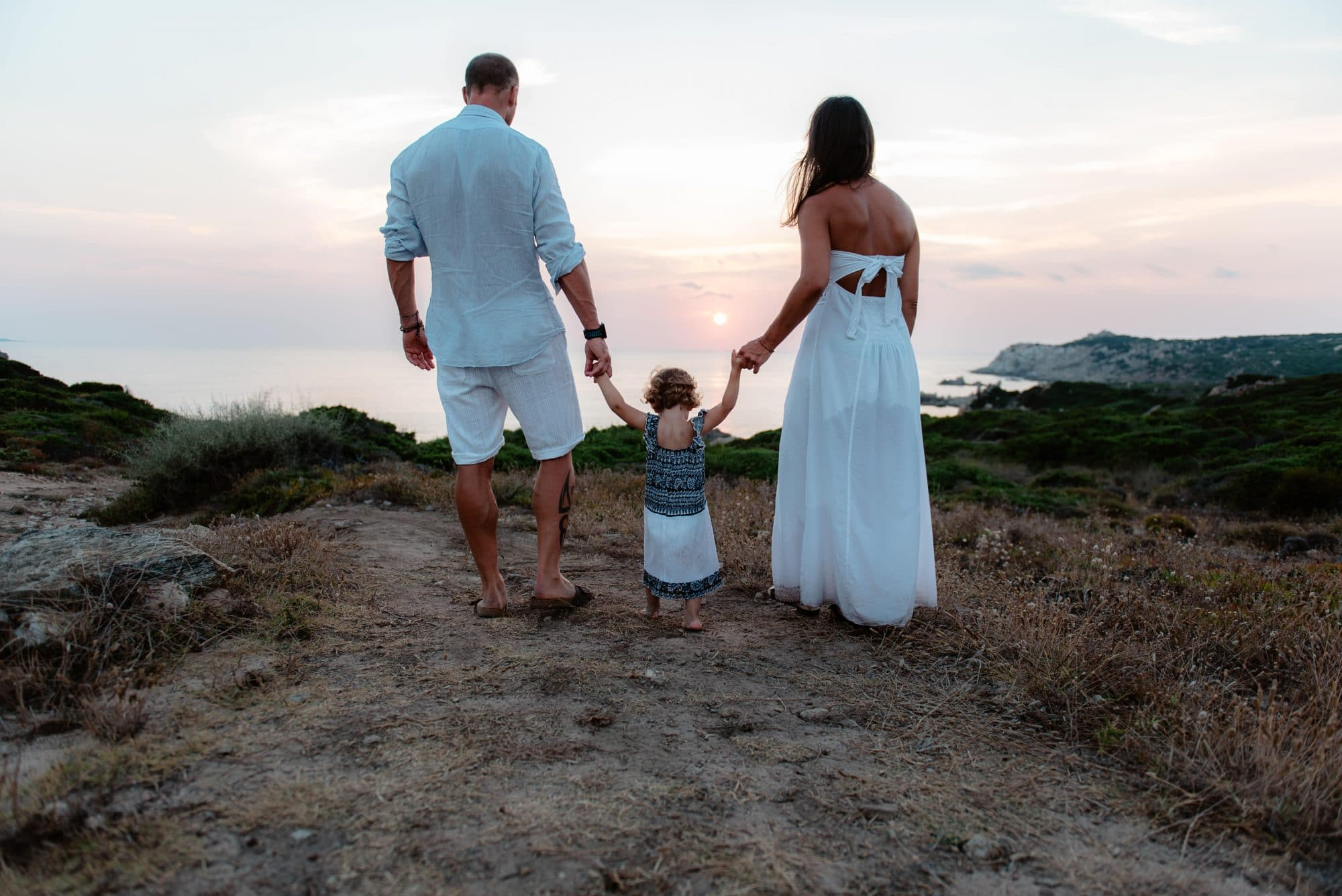 Fotografia di famiglia al mare, Santa Teresa