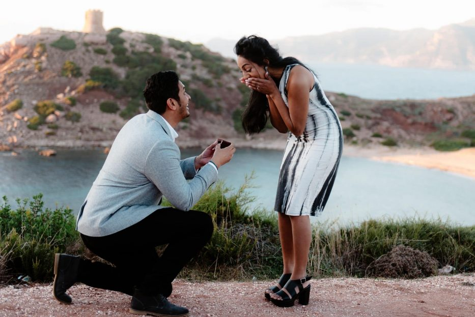 amazing wedding proposal sardinia