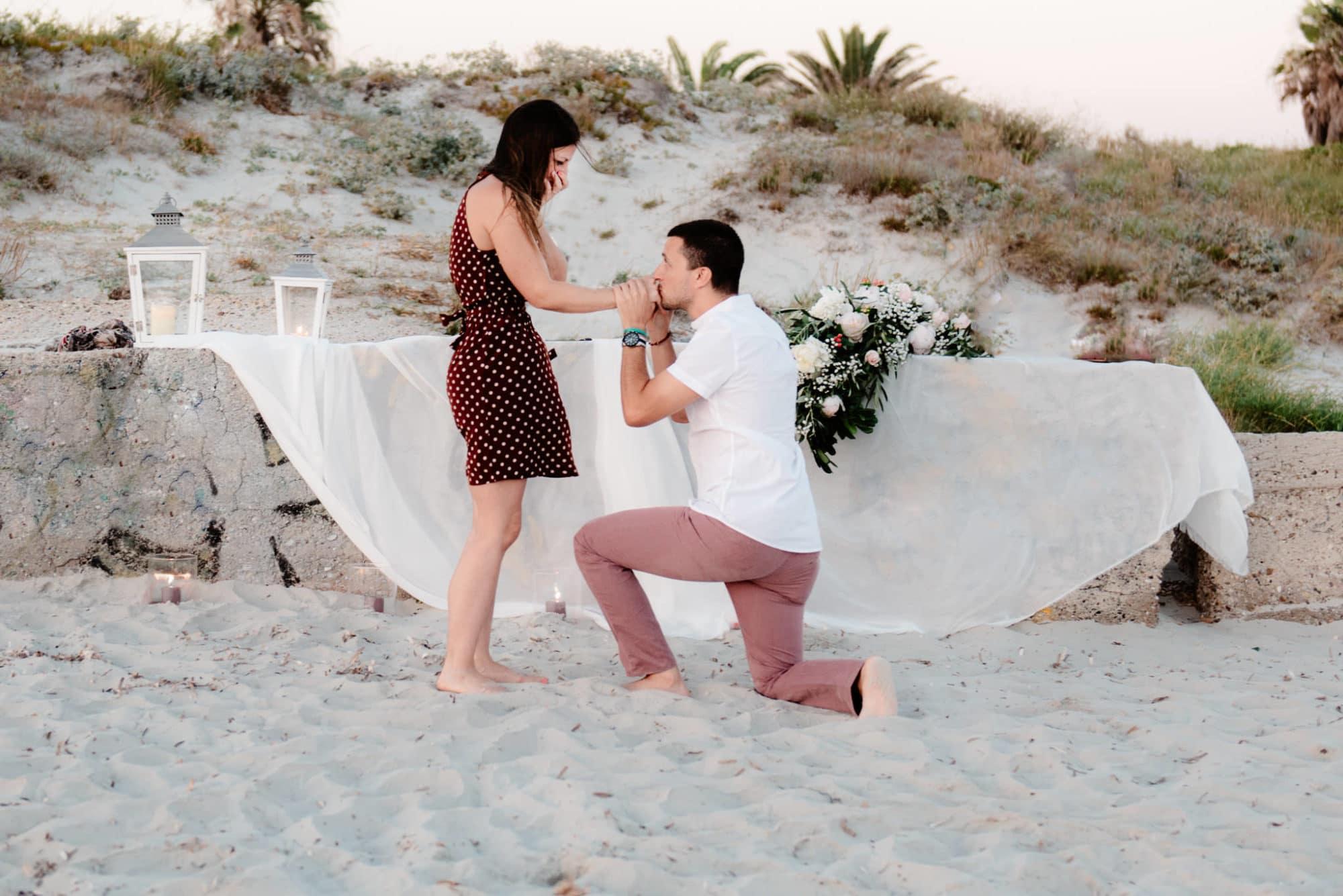 Wedding proposal in Sardinia