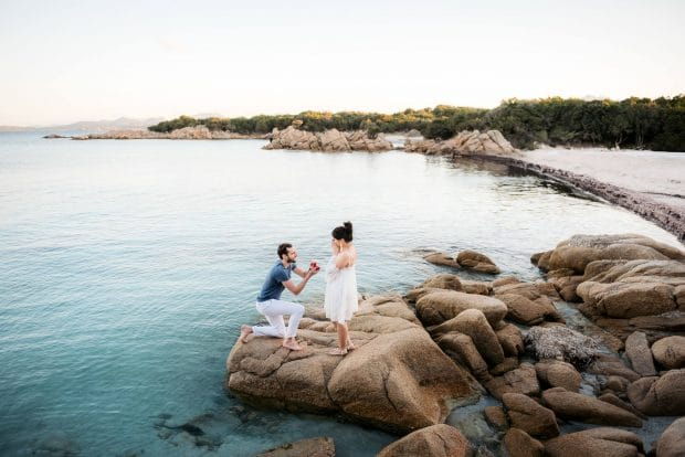wedding proposal porto cervo