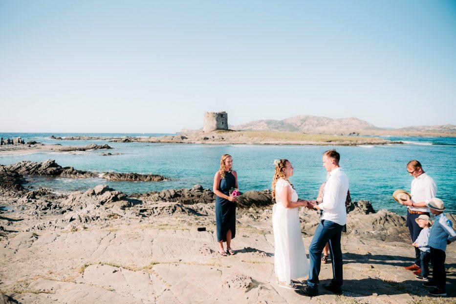 Matrimonio intimo in spiaggia, Stintino, la Pelosa.