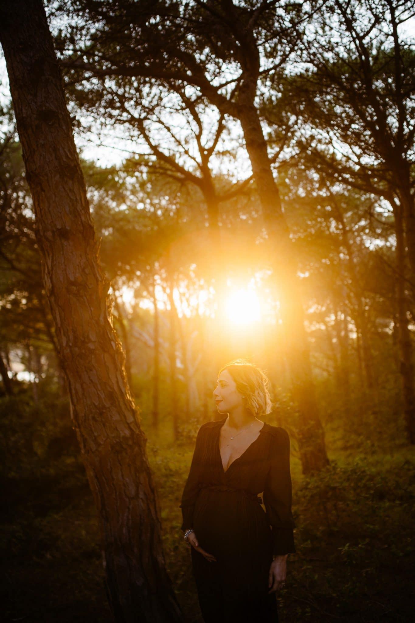 foto al tramonto gravidanza sassari