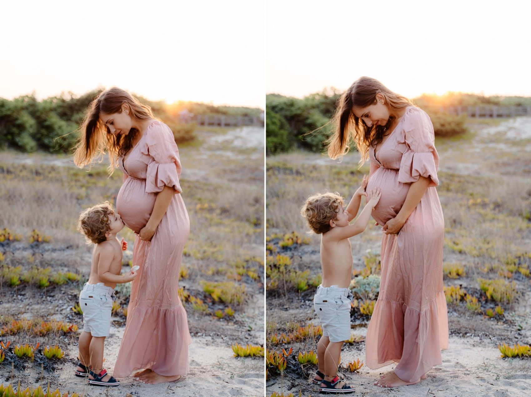maternità foto con bambino
