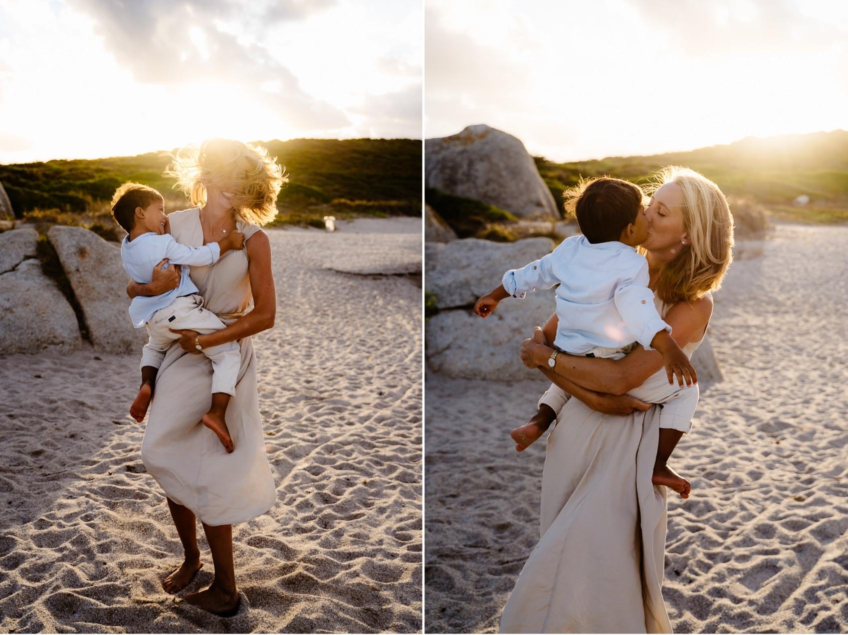 fotografo famiglia sardegna al mare