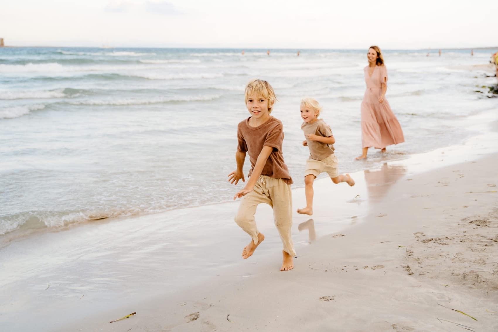 Foto al mare Famiglia, Sardegna. Stintino