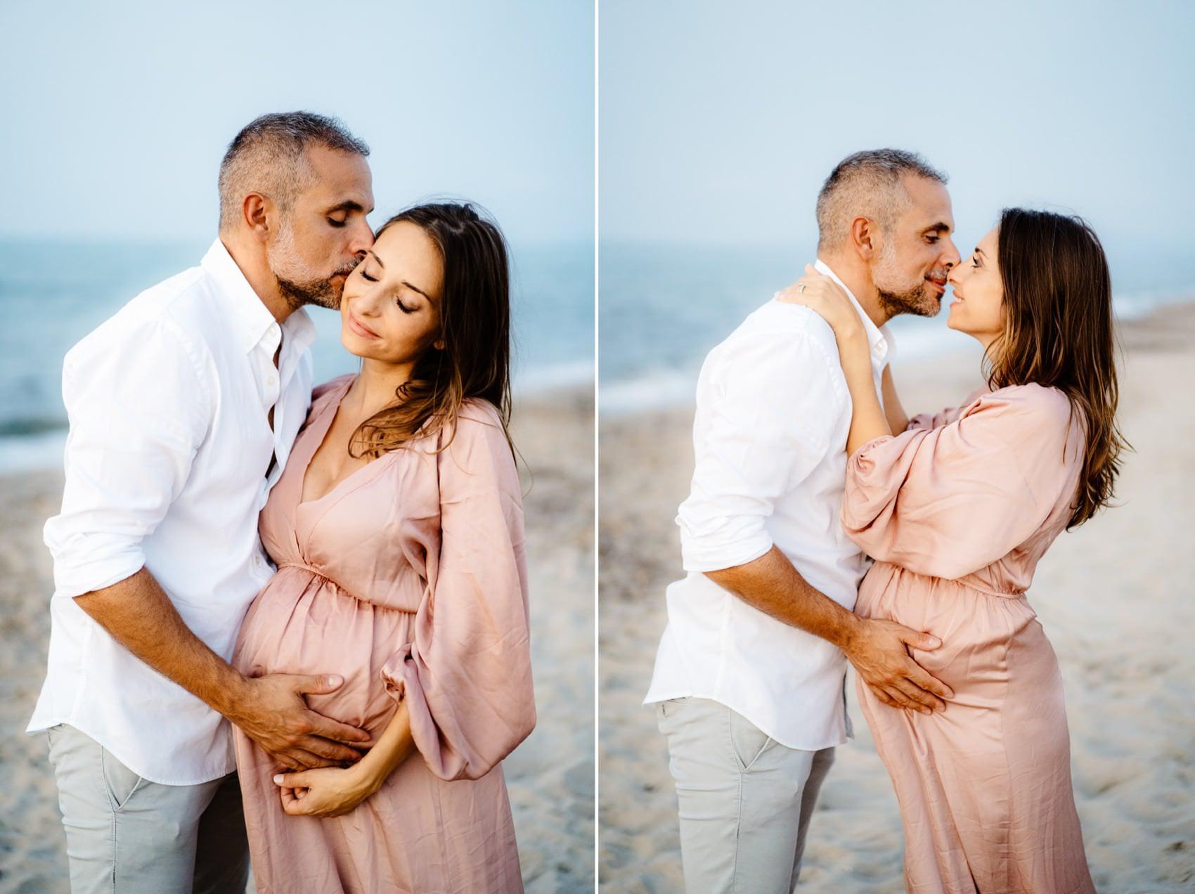 maternità foto in spiaggia sardegna