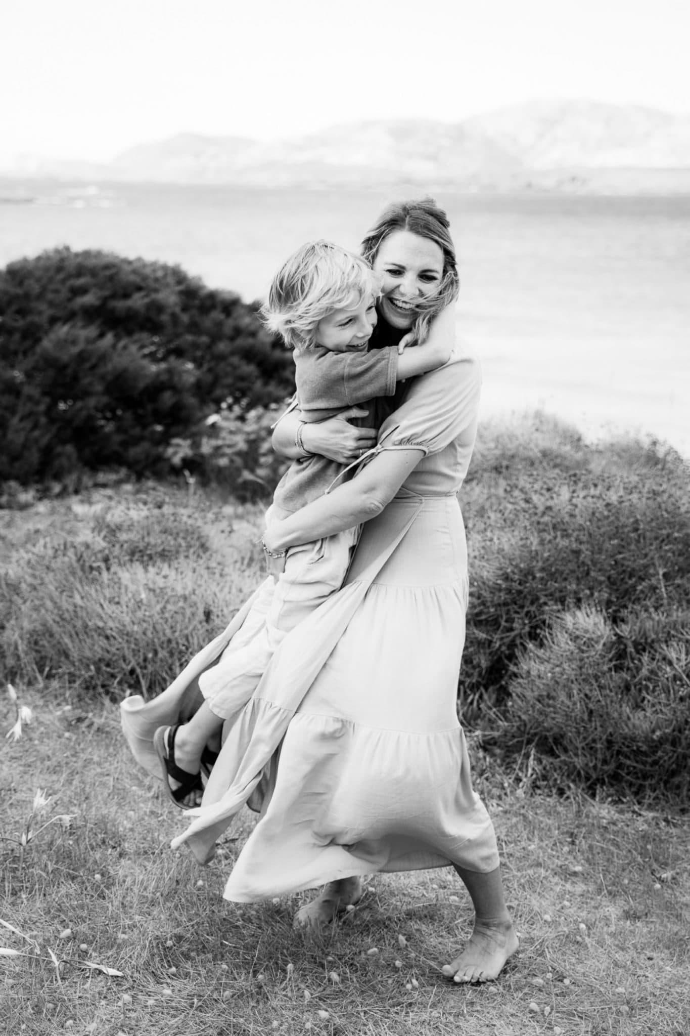 black and white family photos sardinia
