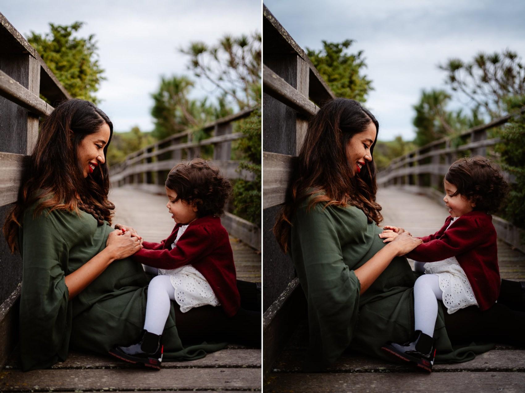 Fotografia gravidanza Sassari figlia