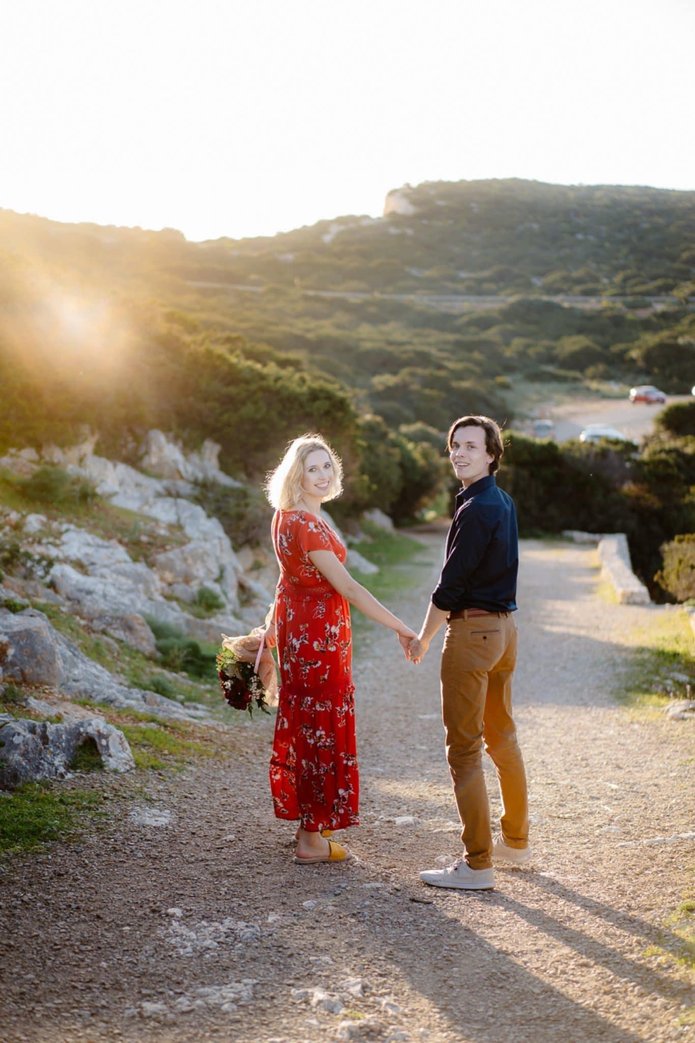 love proposal in sardinia