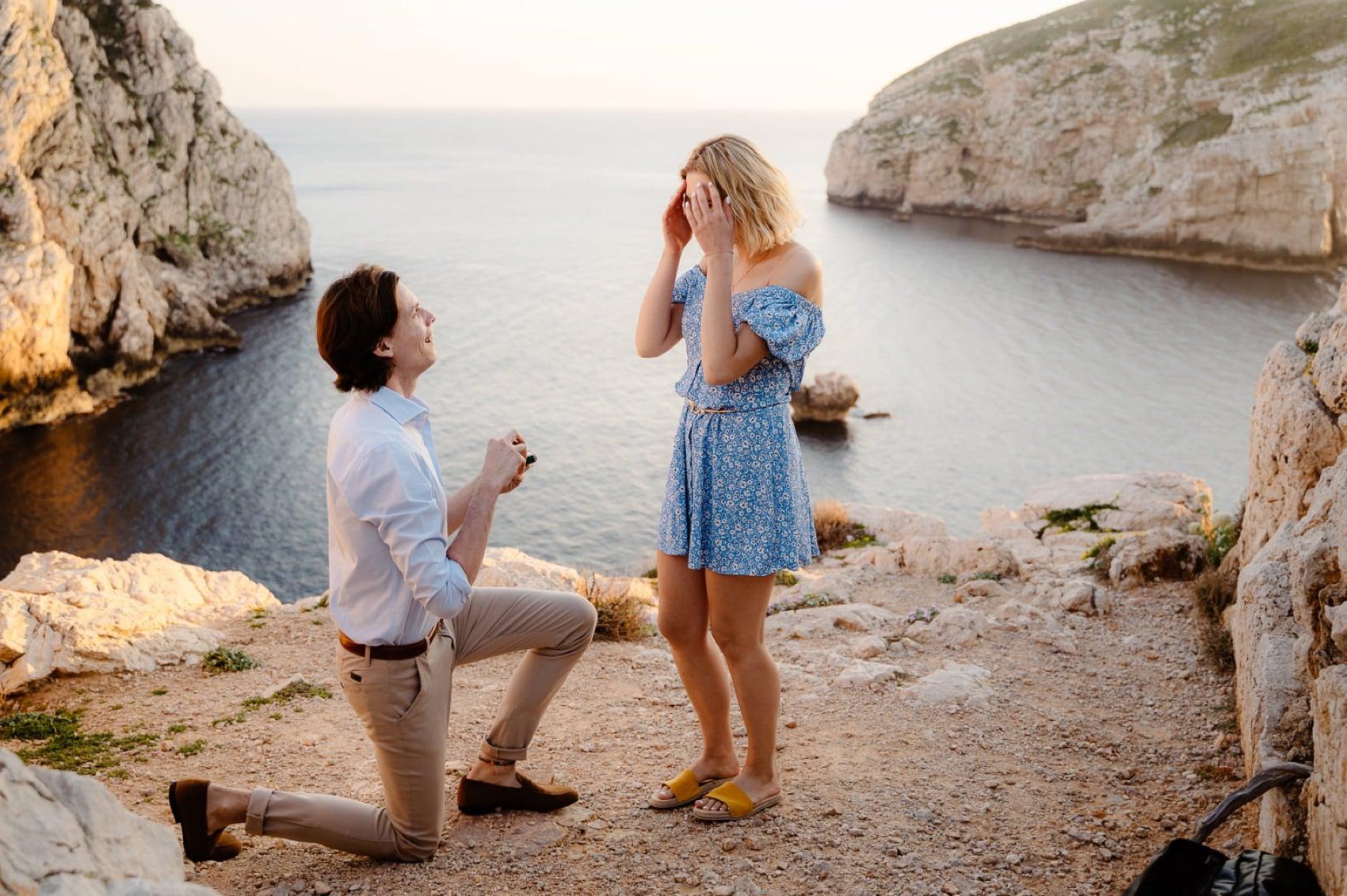 wedding proposal photographer sardinia